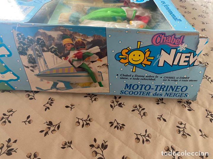 Muñecas Españolas Modernas: Chabel y Danny Sol y Nieve Conjunto Set con moto acuática – trineo 1989 Feber Nuevo en caja - Foto 6 - 278693158