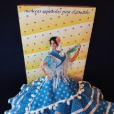 Muñecas Españolas Modernas: MUÑECA DE MARIN DE 48 CM MARIA AZUL NUEVA EN CAJA. Lote 285519593