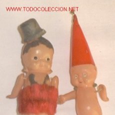 Muñecas Extranjeras: PAREJA DE MUÑECOS DE CELOLOIDE,FABRICACION MADE IN JAPAN,AÑOS 20,MEDIDAS 11CM DE ALTO,. Lote 22509554