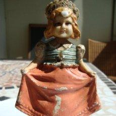 Muñecas Extranjeras: BELLISIMA MUÑECA.PAPEL MACHAIS. SE MUEVE LA CABEZA Y EL CUERPO.ALEMANIA.FINALES XIX. Lote 52439397