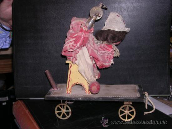 Muñecas Extranjeras: MUÑECA AUTOMATA DE PORCELANA,MADETA Y LATA, DIFERENTES MOVIMIENTOS,(TODO ANTIGUO NO REPLICA) - Foto 7 - 27431800