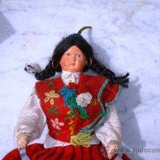Muñecas Extranjeras: ANTIGUA MUÑECA DE TRAPO Y CARA DE CELULOIDE TIPICA DE MADEIRA. Lote 27202793