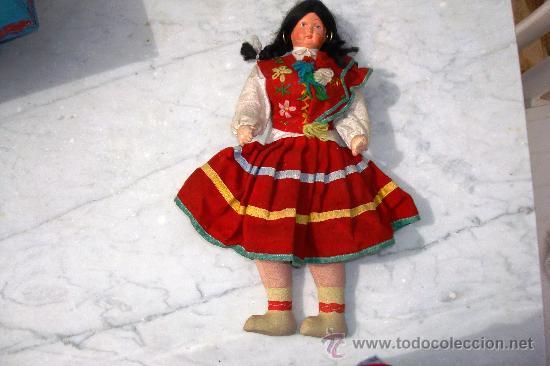 Muñecas Extranjeras: ANTIGUA MUÑECA DE TRAPO Y CARA DE CELULOIDE TIPICA DE MADEIRA - Foto 3 - 27202793