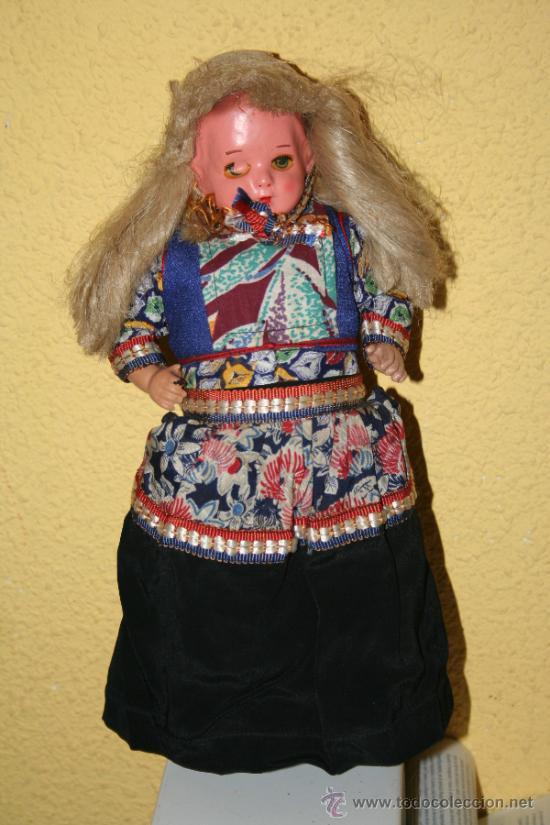 ANTIGUA MUÑECA DE CARTON Y TRAPO (Juguetes - Muñeca Extranjera Antigua - Otras Muñecas)