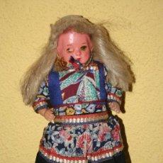Muñecas Extranjeras: ANTIGUA MUÑECA DE CARTON Y TRAPO. Lote 32268702