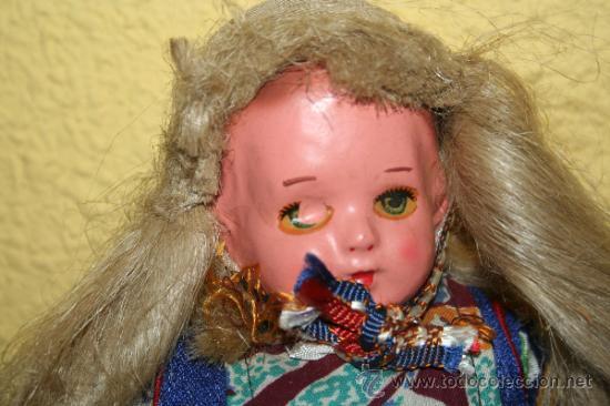 Muñecas Extranjeras: ANTIGUA MUÑECA DE CARTON Y TRAPO - Foto 7 - 32268702