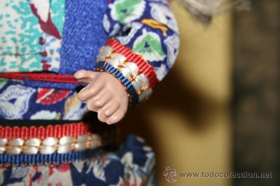 Muñecas Extranjeras: ANTIGUA MUÑECA DE CARTON Y TRAPO - Foto 6 - 32268702