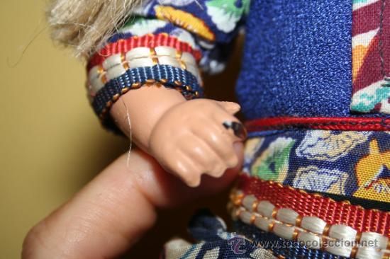 Muñecas Extranjeras: ANTIGUA MUÑECA DE CARTON Y TRAPO - Foto 4 - 32268702