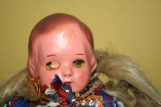Muñecas Extranjeras: ANTIGUA MUÑECA DE CARTON Y TRAPO - Foto 2 - 32268702