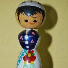 Muñecas Extranjeras: FIGURA DE MADERA JAPONESA - MUÑECA KOKESHI - AÑOS 50-60. Lote 32580962