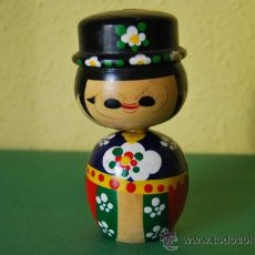 Muñecas Extranjeras: FIGURA DE MADERA JAPONESA - MUÑECA KOKESHI - AÑOS 50-60 . Lote 33054828