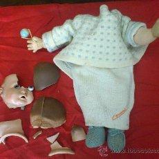 Muñecas Extranjeras: BEBÈ ALEMAN DE TRAPO Y CABEZA DE TERRACOTA... PARA RESTAURAR. Lote 33362988
