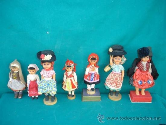 7 MUÑECAS ANTIGUAS CON TRAJES TIPICOS (Juguetes - Muñeca Extranjera Antigua - Otras Muñecas)