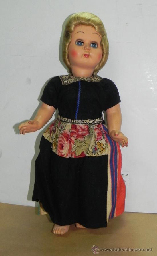 ANTIGUA MUÑECA ITALIANA AÑOS 50 REALIZADA DEN CELULOIDE VESTIDA DE HOLANDESA (VOLENDAM) MIDE 43CM (Juguetes - Muñeca Extranjera Antigua - Otras Muñecas)