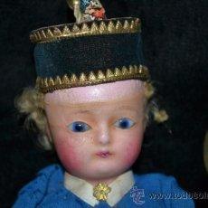 Muñecas Extranjeras: MUY ANTIGUO Y RARO MUÑECO-MUÑECA,CUERPO DE MADERA Y ALAMBRE Y CABEZA DE CERA,DE COLECCION,VER. Lote 34830618