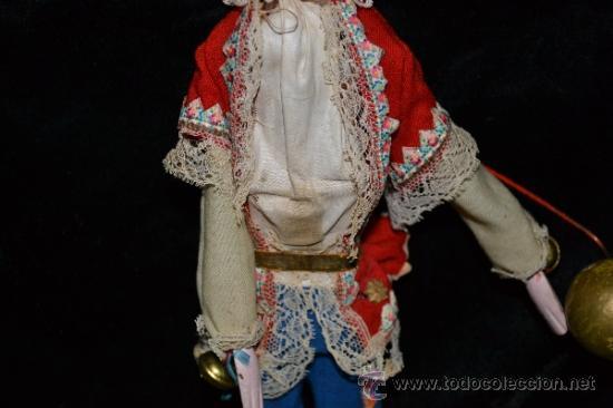 Muñecas Extranjeras: MUY ANTIGUO Y RARO MUÑECO-MUÑECA,CUERPO DE MADERA Y ALAMBRE Y CABEZA DE CERA,DE COLECCION,VER - Foto 7 - 34831014