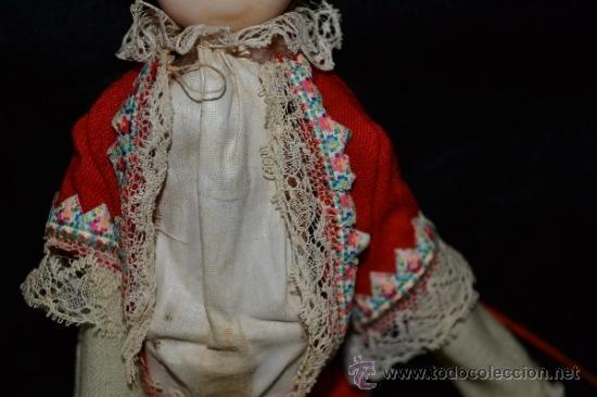 Muñecas Extranjeras: MUY ANTIGUO Y RARO MUÑECO-MUÑECA,CUERPO DE MADERA Y ALAMBRE Y CABEZA DE CERA,DE COLECCION,VER - Foto 10 - 34831014