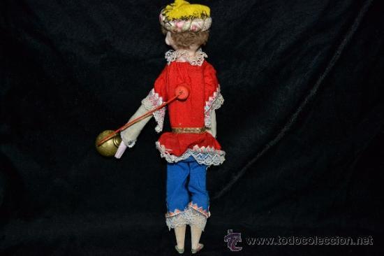 Muñecas Extranjeras: MUY ANTIGUO Y RARO MUÑECO-MUÑECA,CUERPO DE MADERA Y ALAMBRE Y CABEZA DE CERA,DE COLECCION,VER - Foto 11 - 34831014