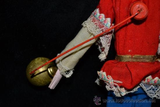 Muñecas Extranjeras: MUY ANTIGUO Y RARO MUÑECO-MUÑECA,CUERPO DE MADERA Y ALAMBRE Y CABEZA DE CERA,DE COLECCION,VER - Foto 13 - 34831014