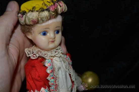 Muñecas Extranjeras: MUY ANTIGUO Y RARO MUÑECO-MUÑECA,CUERPO DE MADERA Y ALAMBRE Y CABEZA DE CERA,DE COLECCION,VER - Foto 16 - 34831014