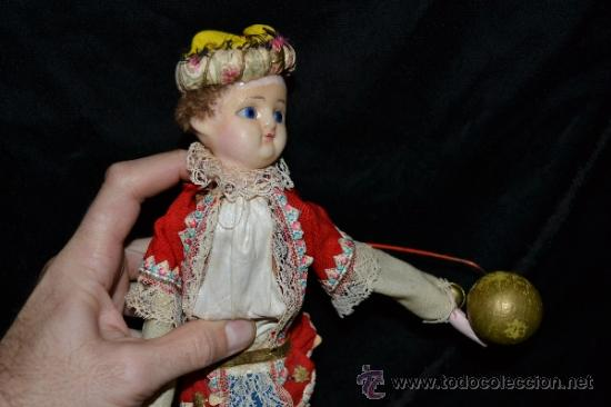 Muñecas Extranjeras: MUY ANTIGUO Y RARO MUÑECO-MUÑECA,CUERPO DE MADERA Y ALAMBRE Y CABEZA DE CERA,DE COLECCION,VER - Foto 21 - 34831014