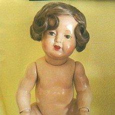 Muñecas Extranjeras: ANTIGUA MUÑECA DE COMPOSICION. MARCA COLONIAL. 52 CM ALTO. LEER. Lote 35169885