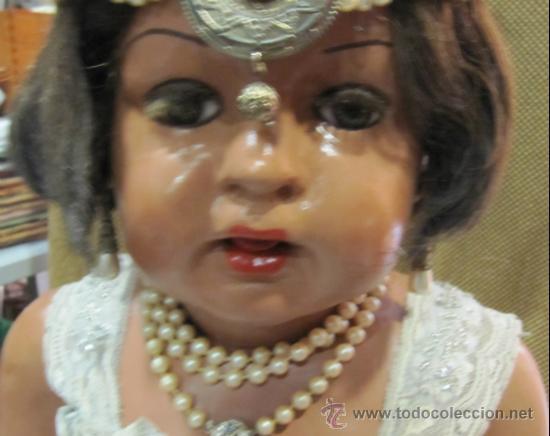 Muñecas Extranjeras: ANTIGUA MUÑECA. AÑOS 20. ESTILO GARÇONS. 70 CM ALTO. CUERPO CARTON PIEDRA. LEER - Foto 11 - 35169798