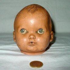 Muñecas Extranjeras: CABEZA DE MUÑECO PLASTICO DURO. ENGLAND. OJOS DURMIENTES.. Lote 35567416