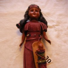 Muñecas Extranjeras: ANTIGUA MUÑECA INDIA CON HIJO CON TRAJE TIPICO. Lote 42114504