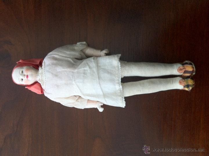 Muñecas Extranjeras: Muñeca de trapo y cartón piedra. Años 20. - Foto 6 - 42556129