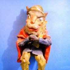 Muñecas Extranjeras: IMPRESIONANTE DIABLO DE PAPEL MACHE FRANCIA 1890 MUÑECO DEMONIO. Lote 43228305