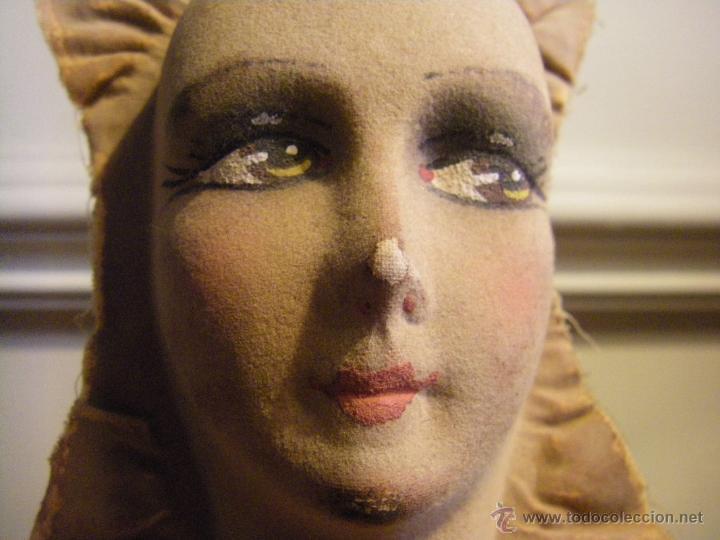 Muñecas Extranjeras: Juguete máscara o cara de tela para una muñeca de trapo de los años 30 - Foto 2 - 44075434