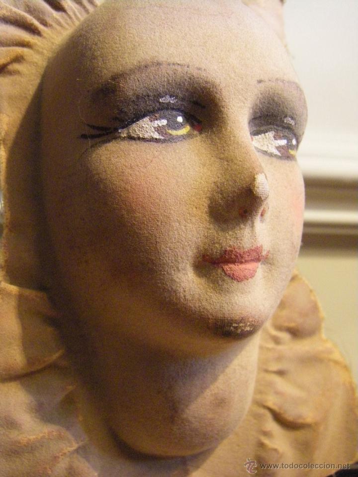 Muñecas Extranjeras: Juguete máscara o cara de tela para una muñeca de trapo de los años 30 - Foto 3 - 44075434