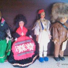 Muñecas Extranjeras: LOTE DE 4 MUÑECAS ANTIGUAS CON TRAJES REGIONALES DE SUS PAÍSES2 SON DE BOUDOIR. Lote 45339938