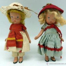 Muñecas Extranjeras: 2 MUÑECAS TERRACOTA NANCY ANN STORY BOOK STORYBOOK DOLL USA 11 AÑOS 50. Lote 45684945