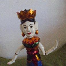 Muñecas Extranjeras: ANTIGUO MUÑECO ARTICULADO DE MADERA. Lote 45805355