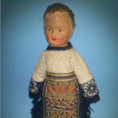 Muñecas Extranjeras: ANTIGUA MUÑECA CABEZA DE CARTON CUERPO TRAPO AÑOS 20. Lote 46105253