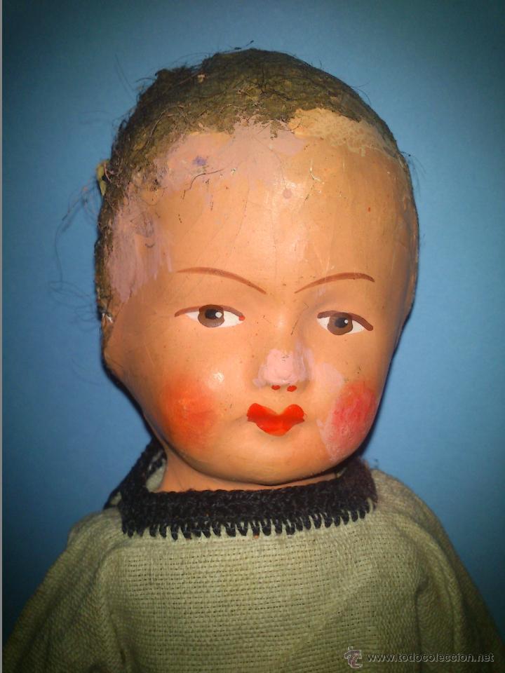Muñecas Extranjeras: ANTIGUA MUÑECA CABEZA DE CARTON CUERPO TRAPO AÑOS 20 - Foto 2 - 46105253
