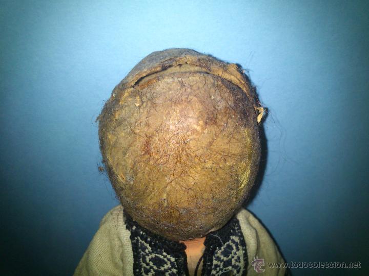 Muñecas Extranjeras: ANTIGUA MUÑECA CABEZA DE CARTON CUERPO TRAPO AÑOS 20 - Foto 5 - 46105253