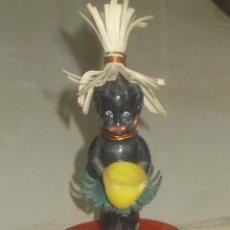 Muñecas Extranjeras: ANTIGUO PEQUEÑO MUÑECO NEGRITO DE PLASTICO DURO. 7,5 CM . Lote 46302451