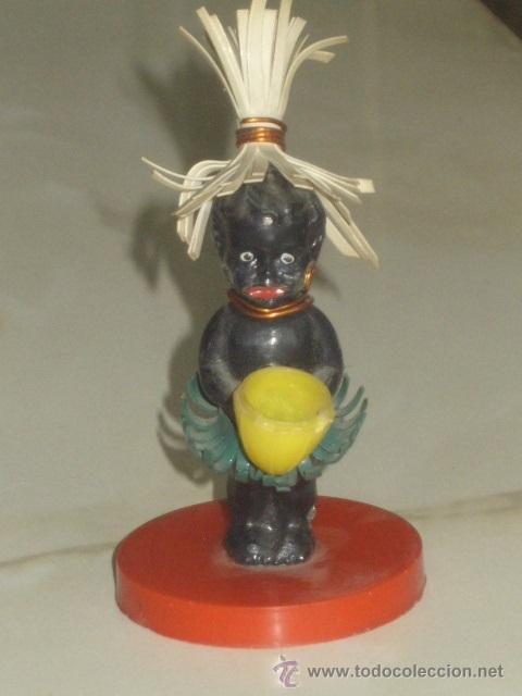 Muñecas Extranjeras: ANTIGUO PEQUEÑO MUÑECO NEGRITO DE PLASTICO DURO. 7,5 CM - Foto 2 - 46302451