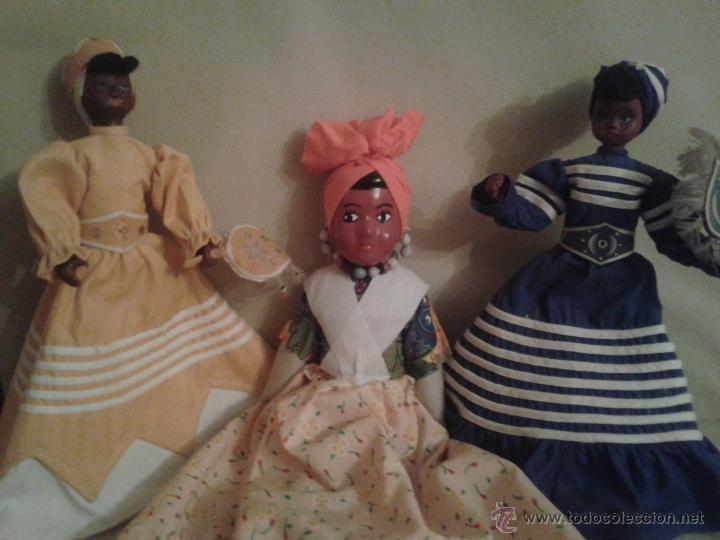 LOTE DE MUÑECAS NEGRITAS CUBANAS . (Juguetes - Muñeca Extranjera Antigua - Otras Muñecas)