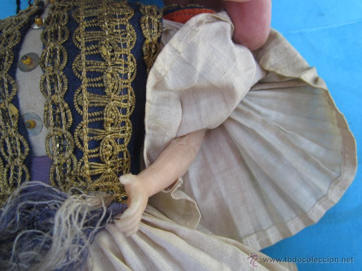 Muñecas Extranjeras: muñeco etnologico griego - cabeza de cuero- procede de grecia - Foto 4 - 47681533
