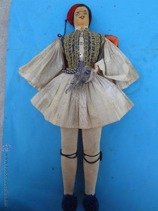 Muñecas Extranjeras: muñeco etnologico griego - cabeza de cuero- procede de grecia - Foto 13 - 47681533