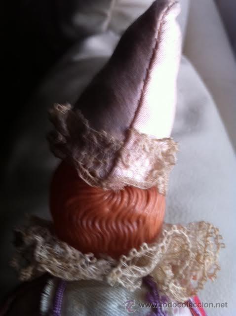 Muñecas Extranjeras: Antiguo MAROTTE celuloide y seda - Foto 4 - 47958054