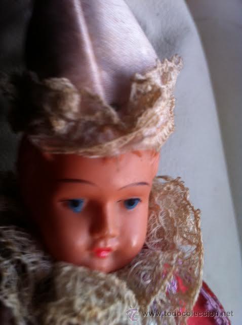 Muñecas Extranjeras: Antiguo MAROTTE celuloide y seda - Foto 5 - 47958054
