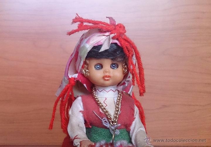 Muñecas Extranjeras: Muñeca antigua con cara de celuloide, ojos durmientes y traje tradicional de Minho Portugal . - Foto 6 - 59871404