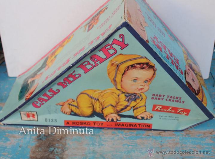 Muñecas Extranjeras: ANTIGUO MUÑECO A PILAS - CALL ME BABY - ROSKO TOY - FUNCIONA - AÑOS 60 - GATEA Y HABLA COMO UN BEBE - Foto 2 - 50983401