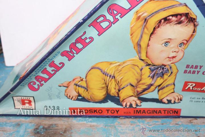 Muñecas Extranjeras: ANTIGUO MUÑECO A PILAS - CALL ME BABY - ROSKO TOY - FUNCIONA - AÑOS 60 - GATEA Y HABLA COMO UN BEBE - Foto 4 - 50983401