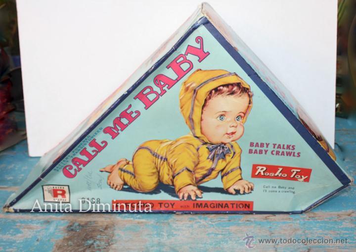 Muñecas Extranjeras: ANTIGUO MUÑECO A PILAS - CALL ME BABY - ROSKO TOY - FUNCIONA - AÑOS 60 - GATEA Y HABLA COMO UN BEBE - Foto 6 - 50983401